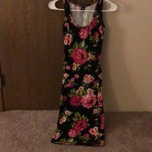 Floral skin dress